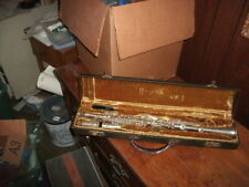 VINTAGE  BC CADET SILVER PLATE CLARINET very well taken care of...complete