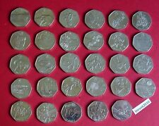 Various Rare London 2012 Olympic 50p Coins (Circulated) - From £0.99
