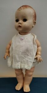 """Vintage 1950's YES NO Marked PAT. PEND. Hard Plastic 11.5"""" Cute"""