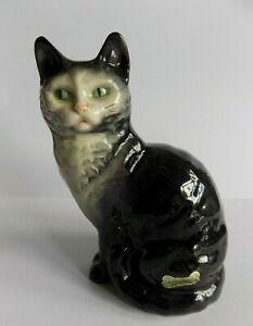 "Vintage Beswick  ""Seated  Blue / Black Kitten""   GLOSS   1031 Model"
