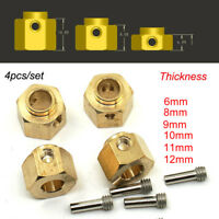 Heavy Brass Add Weight Widening Hex Hubs for 1/10 RC Crawler Traxxas TRX-4 trx4