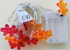 Boltze  8631400 Lichterkette 10 LED Lichtkette 1,5m Color Blüten