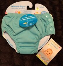 Iplay Reusable Swim Diaper Teal Sz:6 months 10-18 lbs Public Pool Approved~New