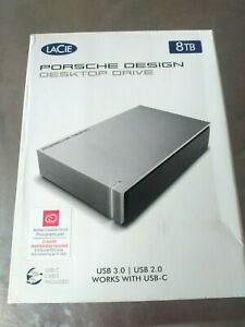 LaCie 8TB Porsche Design USB 3.1 Desktop 3.5inch External Hard Drive for PC & Ma