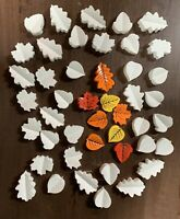 "READY TO PAINT Set Of 24+2 Plaster AUTUMN LEAVES 1 - 2"" Pieces For Crafts"