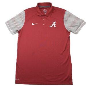 Nike Men's Medium Red Alabama Crimson Roll Tide Performance Stretch Golf Polo