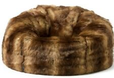 X LARGE Luxury Faux Fur Bean Bag Chair Adult Beanbag Seat BROWN BEAR b053de1c89a46