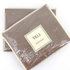 Villa Noble Excellence Natural Latte Brown Linen Blend Euro Sham Lot Of Two