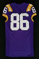 LSU Tigers Game Used Purple Jersey Worn by #86 With Nameplate Removed