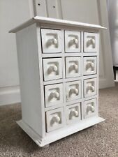 SMALL COLLECTORS DRAWERS APOTHECARY/JEWELLERY/HABERDASHERY TABLE TOP