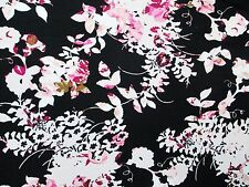 2 yards stretch fukuro fabric floral print