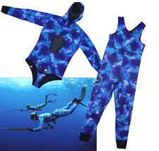 5MM neoprene 2 pcs spear fishing scuba diving ocean camo wetsuit MEN XS