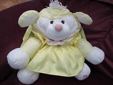 "Vtg 1986 Fisher Price Yellow Lamb Sheep Puffalump dress 15"" Plush Stuffed Toy"
