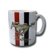 Mustang Weiß Glasiert Keramik 313ml Tasse. Auto, Motor, Geschenk/Geschenk