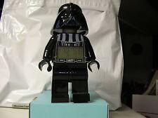 """LEGO """"Star Wars Darth Vader"""" Digital Clock Darth Vader With Alarm 2010"""