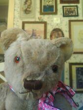 Antique Vintage mohair 1950s English Invicta Teddy Bear England Uk 18in Vgc