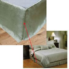 Easycare Jacobian Sage Jacquard Bed Bedskirt Valance - KING