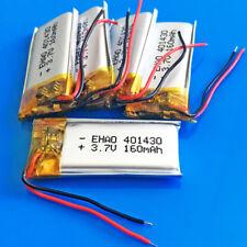 5 PEZZI 3.7 V 160 mAh Batteria ricaricabile ai polimeri di Li per MP3 MP4 SMART WATCH 401430