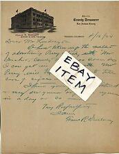 1924 FRANK R. DUNLAVY Letterhead LAS ANIMAS COUNTY TREASURER Trinidad Colorado