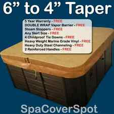 "THICKEST 6"" to 4"" Taper Hot Tub Cover - GREAT for Cold Climates - FREE Shipping"
