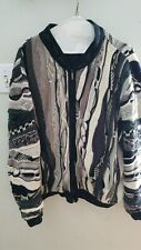 COOGI Australia FULL ZIP Lined Sweater Jacket RARE Cotton Large
