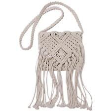 Women Lady Girls Shoulder Bag Crochet Knit Handbag Bohemian Beach Tassel Bags FW