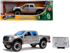 2011 Ford F-150 SVT Raptor Pickup Truck Raw Metal with Blue Stripes (Dirty Versi
