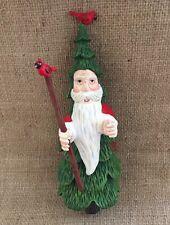 Santa Clause And Cardinals Christmas Ornament