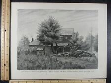 Rare Antique Original VTG 1899 Old House Bronx Park NYC Photogravure Art Print