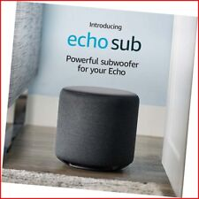 Echo Sub | Powerful subwoofer for your Echo—requires compatible Echo device and