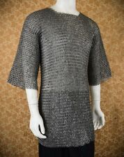 Chainmail shirt 9 mmFlat Riveted With Flat Warser Large Size Half sleeve a25