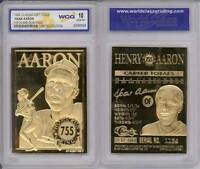 HANK AARON 755 Home Run King 1996 Sculptured 23KT Gold Card GEM MINT 10 * BOGO *