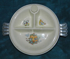 LOVELY ANTIQUE VINTAGE BABY/CHILD DIVIDED FEEDING BOWL/DISH WARMER