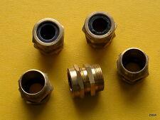 Confezione di 5 x 25mm M 25 conduttura in ottone TRS Cavo Ripieno ghiandola. GRATIS UK Affrancatura