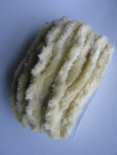"Chenille trim, 1/4"", 5yds , PALE BUTTER YELLOW,  100% cotton, hand dyed"