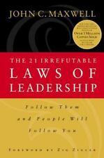 The 21 Irrefutable Laws of Leadership, John C. Maxwell, Good Condition, Book