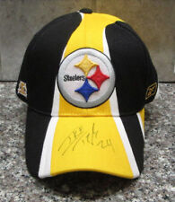 RARE IKE TAYLOR AUTO SIGNED REEBOK BLACK & GOLD CAP PITTSBURGH STEELERS
