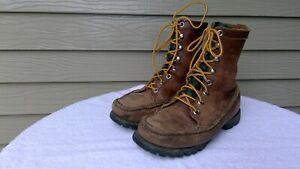 Men's Handmade VTG Russell Moccasin Orvis Gokey Hunting Boots 7 - 8 Wide Nice