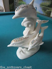 "Lenox Jewel Collection ""Frolicking Dolphins"" 9"" tall [up]"