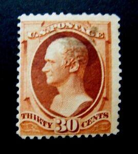1888 US S# 217,  30c Hamilton, orange brown Stamp MPH OG vg+ *