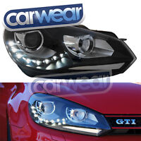 VOLKSWAGEN VW GOLF 6 VI 09-13 OEM LOOK LED DRL (R DESIGN) PROJECTOR HEAD LIGHTS