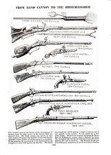 Rifle, cañón de mano Para Recámara Cargadora, cartidges. tres informativo impresiones c1940