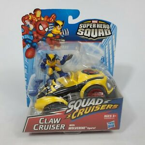 Marvel Super Hero Squad SEALED Rare CLAW CRUISER w/ WOLVERINE X-Men Car Vehicle