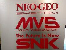Arcade style Vinyl Decals NeoGeo MVS SNK Red Multi pack * Read description *