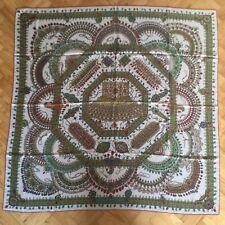 Hermes 140 Cashmere Silk Shawl Parures Des Maharajas By C Baschet Indian Jewels