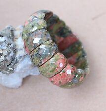 facettiert Unakit-Epidot Armband, ca 25 x 10 mm-- ( Mai-9)