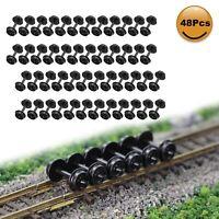 "48pcs N Scale POM Plastic 33'' Wheels for Model Train 1:150 33"" Wheel HP28N"