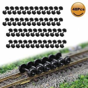 "48pcs N Scale POM Plastic 33'' Wheels for Model Train 1:150 33"" Wheel HP28N"