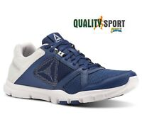 Reebok Yourflex Train 10 Blu Scarpe Uomo Sportive Running Palestra CN4726