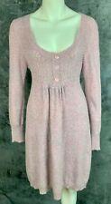 BCBG Max Azria Wool & Angora Scoop Neck Marled Pink Sweater Dress sz XL (8599)